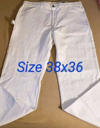 White Dickies Work Pants size 38x36 Renton, 98058