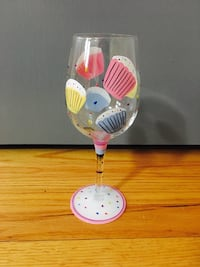 Hand Painted Fifth Avenue Delish Cupcake Goblet