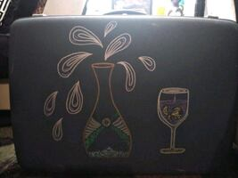 Portable Suitcase Wine Bar