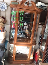 Stunning vintage glass/wooden display cabinet curio for Figurines cup Ancaster, L9G 3X9