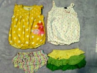 Baby's summer clothes lot 3-6 months