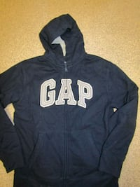 14-16yrs blue and white GAP zip-up hoodie London