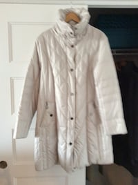 Cream color coat with hood 760 km