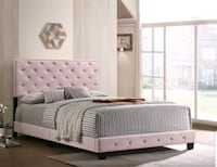 Special !!!Brand new Queen bed frame with mattress and boxspring