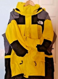 The North Face Mountain Extreme Patrol Yellow & Black Jacket Parka XXL