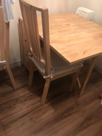 Ikea table with drawers and 3 chairs  Vancouver, V5M