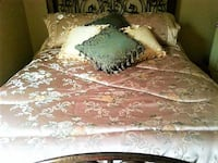 Comforter, bed skirt, shams and 4 throw pillows MOBILE