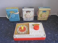 Vintage 1970's Collection of 4 Fisher Price Musical Radio Boxes Winnipeg