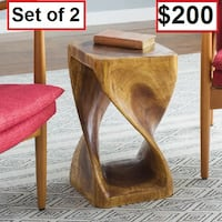 AJ- BRAND NEW- Pelley Twist End Table ( Set of 2) Mississauga
