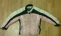 black, white, and pink zip-up jacket Grand Rapids, 55744