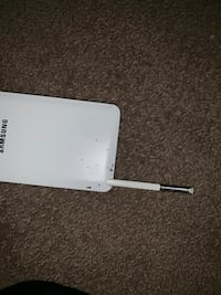 White samsung galaxy android smartphone 550 km