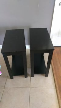 2 black end tables Odenton