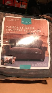 Loveseat 2-piece stretch loveseat slipcover Fairfax, 22031