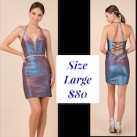 New With Tags Size Large Short Metallic Formal Dress $80 Indianapolis
