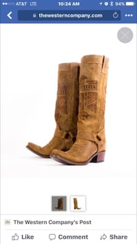 Brand New-Size 6- Junk Gypsy by Lane Boots Honey Leather She Who is Brave Cowgirl Fort Worth, 76107