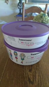 two white and purple plastic containers Bakersfield, 93304