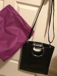 Black vegan leather purse with cat detail Inwood, 25428