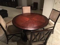 """48"""" Kitchen Wood Table & Four Chairs Bowie, 20720"""