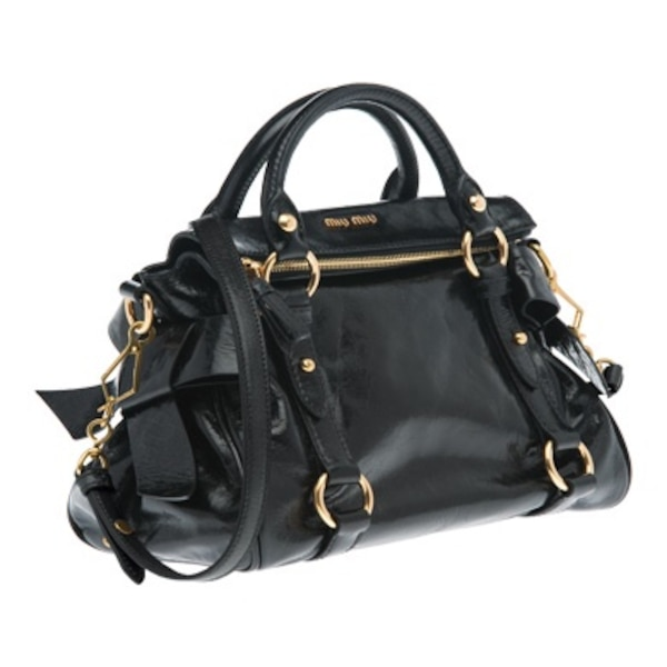 Used Miu Miu black bow bag for sale in London - letgo fa07a432ba9c8