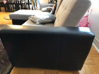 black leather sectional sofa with ottoman Toronto, M4H