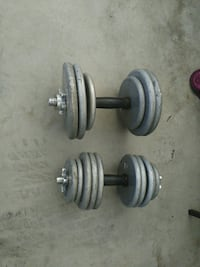 Two dumbbells with weights and clips Orem, 84057