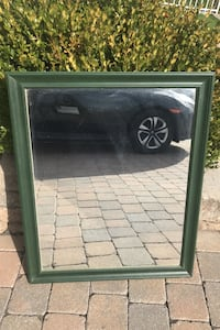 Mirror with green frame (moving need to sale) Laval, H7W 1P2