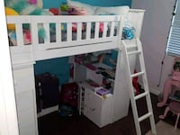 white wooden bunk bed frame Los Angeles, 90731