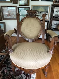 Antique Armchair with Trumpet Legs