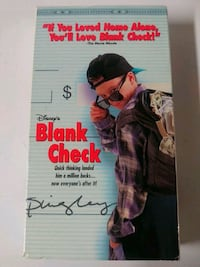 Blank Check vhs tape in box