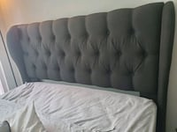 Murrieta Upholstered Headboard (Queen). Bed rails included  Alexandria