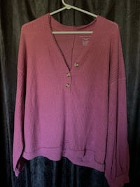 Pink oversized American Eagle sweater