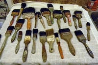 35 Vintage Paint Brushes, Some Horse Hair  Vancouver