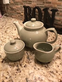 New Sage tea set