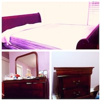 red and white wooden bed frame collage Markham, L6B 0P9