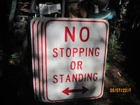 "Original Highyway/ Road Sign ""No Stopping Or Standing"" Lafayette Township"