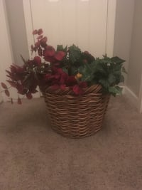 Wicker Basket Floral Decoration Loveland