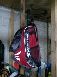 red and white Easton baseball backpack Allentown, 18103