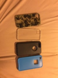 several assorted-color iPhone cases