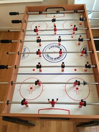 white and green foosball table 5 km