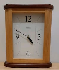 Large 2 Toned Table Clock