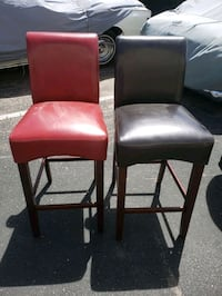 two leather padded barstools  Albuquerque, 87106