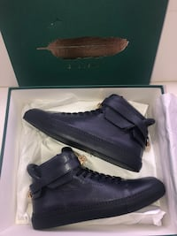 Buscemi 100MM High Top Pebbled Leather Sneakers size 43