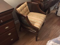 brown wooden framed brown padded armchair Dundas, L9H 6Z7