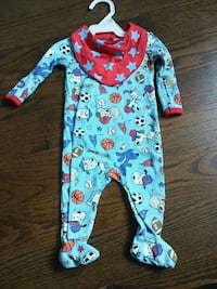 baby's blue and red footie pyjama Pickering, L1X 1P5