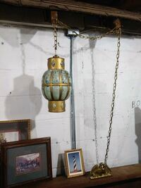 gold hanging lamp and photo frames Christiansburg, 24073