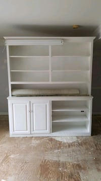 white wooden cabinet with shelf