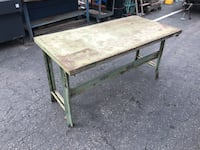 Green Industrial work bench table 30x60x31h Signal Hill, 90755