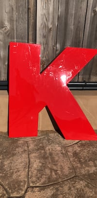 """50"""" Marquee Letter """"K"""" San Diego, 92117"""