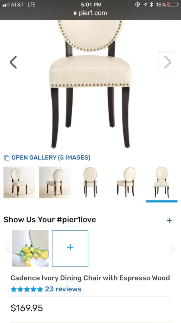 Excellent Pier One Cadence Ivory Sitting Chair With Espresso Wood Caraccident5 Cool Chair Designs And Ideas Caraccident5Info