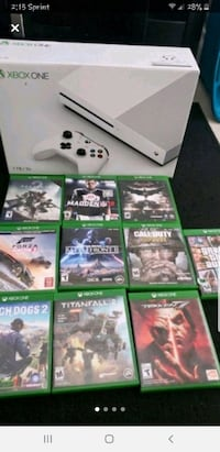 XBOX ONE /w/ RECHARGEABLE BATTERY AND 40 GAMES Washington